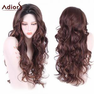 Adiors Long Wavy Middle Part Shaggy Synthetic Wig