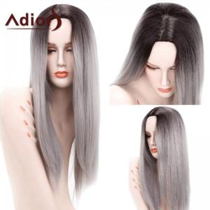 Adiors Long Ombre Centre Parting Straight Synthetic Wig - Colormix
