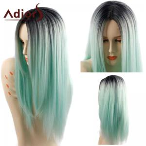 Adiors Long Straight Middle Parting Ombre Synthetic Wig