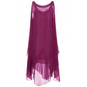 Plus Size Chains Detail Overlap Flowy Tent Dress -