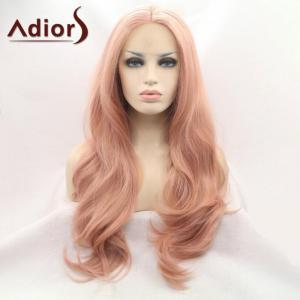 Adiors Long Wavy Middle Part Capless Synthetic Wig -