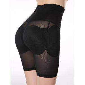 See-Through Padded Shorty taille haute - Noir L