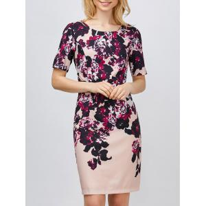 Mini Floral Sheath Dress