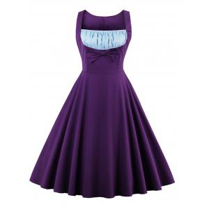 Retro Bowknot A Line Pin Up Dress