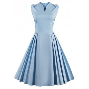 V Neck Bowknot Pin Up Fit et Flare Work Dress