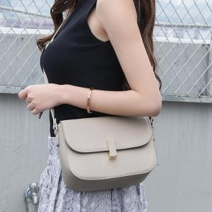 Flap PU Leather Cross Body Bag -