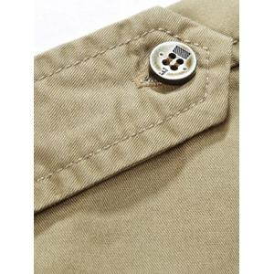 Patched Short Sleeve Cargo Military Shirt - ARMY GREEN M