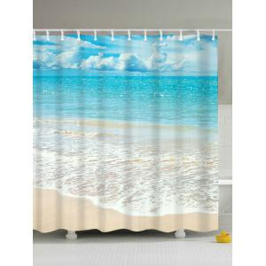 Beach Scenery Water Resistant Anti-bacteria Shower Curtain - Light Blue - 180*200cm