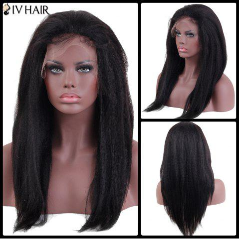 Sale Siv Hair Long Yaki Straight Lace Frontal Human Hair Wig
