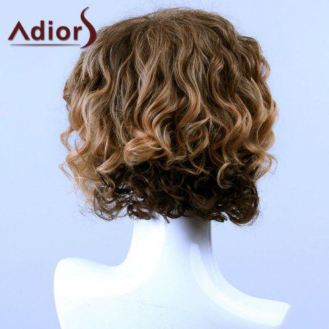 Online Adiors Hair Medium Curly Side Bang Capless Synthetic Wig - COLORMIX  Mobile