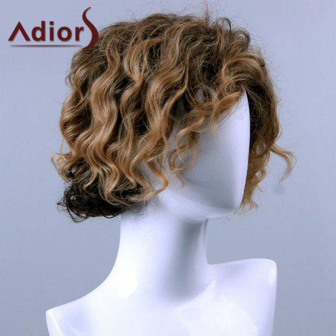 Cheap Adiors Hair Medium Curly Side Bang Capless Synthetic Wig - COLORMIX  Mobile