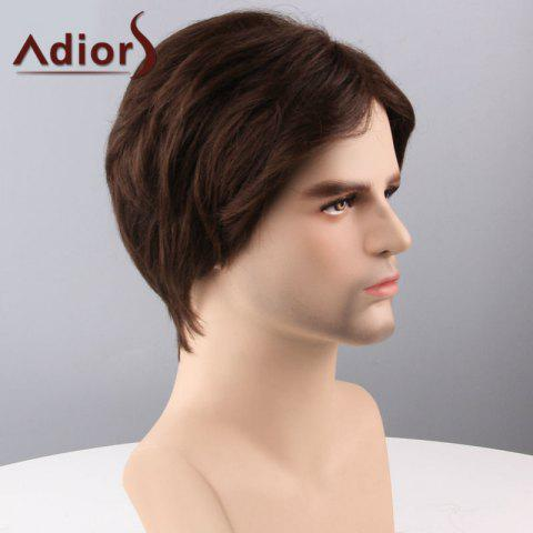 Outfit Adiors Hair Short Side Bang Straight Capless Synthetic Wig - BROWN  Mobile