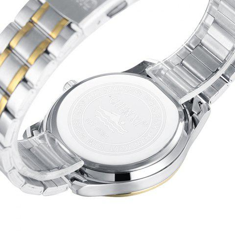 Affordable CHENXI Stainless Steel Rhinestone Analog Watch - WHITE  Mobile