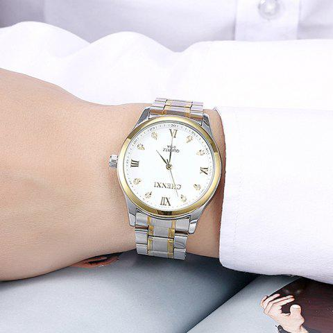 Sale CHENXI Stainless Steel Rhinestone Analog Watch - WHITE  Mobile
