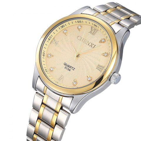 Affordable CHENXI Stainless Steel Rhinestone Analog Watch - GOLDEN  Mobile