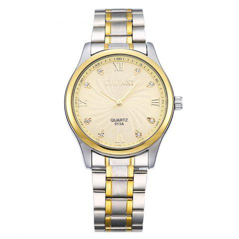 Sale CHENXI Stainless Steel Rhinestone Analog Watch - GOLDEN  Mobile