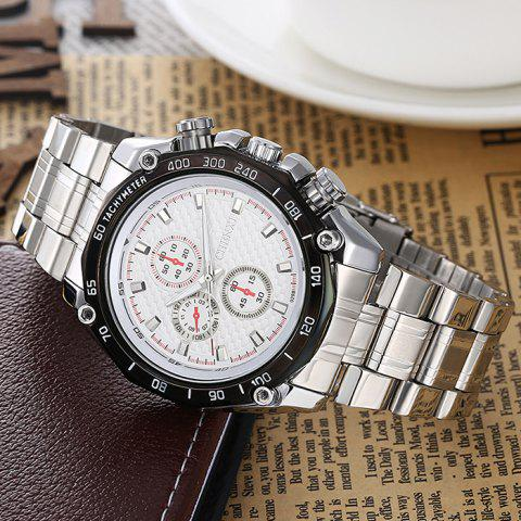 New CHENXI Stainless Steel Tachymeter Analog Watch - WHITE  Mobile