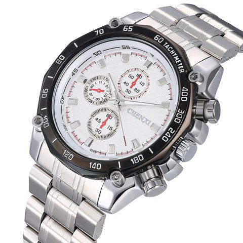 Store CHENXI Stainless Steel Tachymeter Analog Watch - WHITE  Mobile