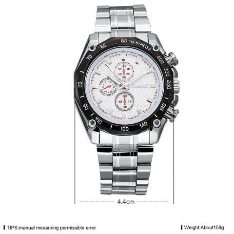 Outfit CHENXI Stainless Steel Tachymeter Analog Watch - WHITE  Mobile