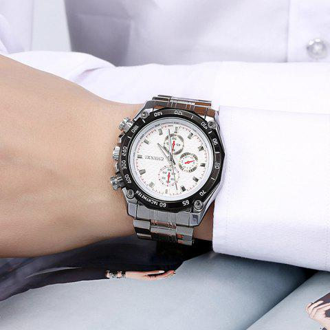 Affordable CHENXI Stainless Steel Tachymeter Analog Watch - WHITE  Mobile