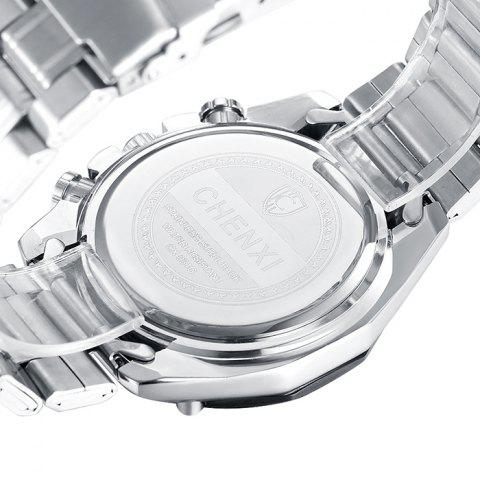 Shops CHENXI Stainless Steel Tachymeter Analog Watch - WHITE  Mobile