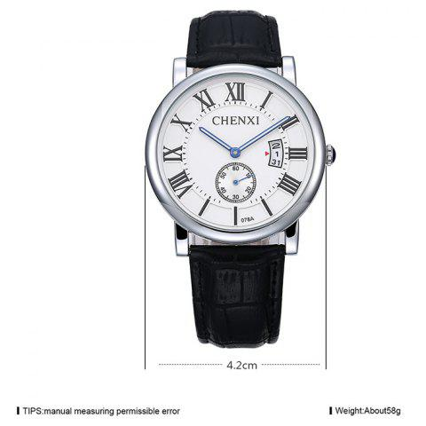 Fancy CHENXI Roman Numerals Analog Date Watch - WHITE  Mobile