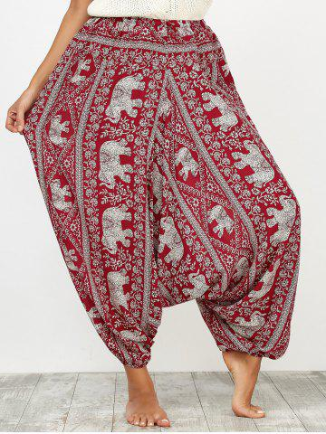 New Indian Harem Pants with Elephant Printed