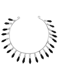 Fringed Alloy Cuff Necklace