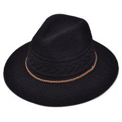 Breathable Braided Rope Straw Jazz Hat