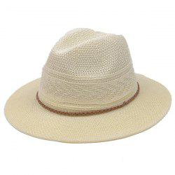 Breathable Braided Rope Straw Jazz Hat -