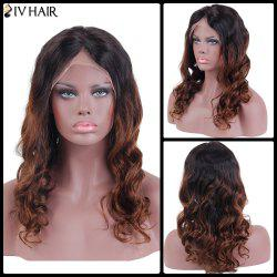 Siv Hair Long Wavy Middle Part Lace Front Human Hair Wig