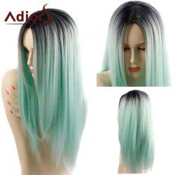 Adiors Long Straight Middle Parting Ombre Synthetic Wig - COLORMIX