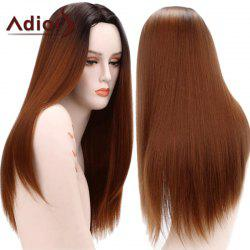 Adiors Gradient Long Straight Middle Part Synthetic Wig
