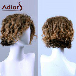 Adiors Hair Medium Curly Side Bang Capless Synthetic Wig