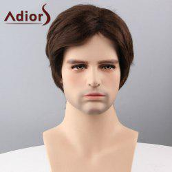Adiors Cheveux courts Side Bang capless perruque synthétique - Brun