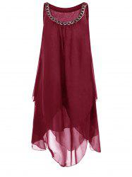 Overlay Tent A Line Dress with Chains