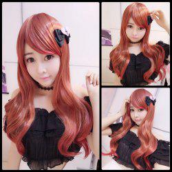 Harajuku Long Side Bang Wavy Cosplay Lolita Synthetic Wig