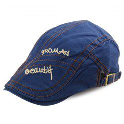 Texture Sewing Letters Embroidered Cabbie Hat