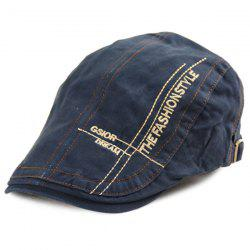 Letters Cross Embroidery Denim Newsboy Hat