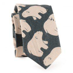 Polar Bear Printed Neck Tie -