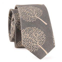 Trees Printed Cotton Blend Tie