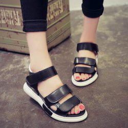 Platform PU Leather Sandals