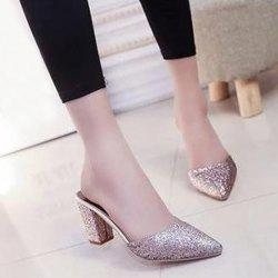 Glitter Pointed Toe Slippers