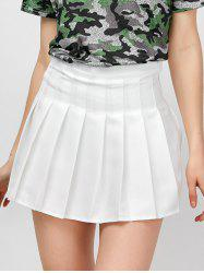 High Rise Pleated Pantskirt - WHITE