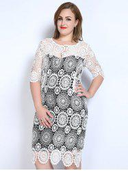 Lace Plus Size Night Out Dress With Sleeves