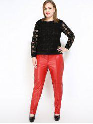 Faux Leather Plus Size Pants
