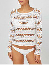 Long Sleeve Crochet Cover-Up