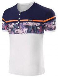 Floral Patchwork Short Sleeve Tee