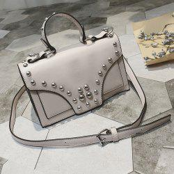 Rivet Detail Flap Handbag
