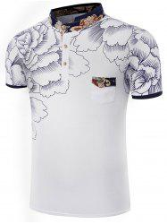Printed Chest Pocket Polo Shirt